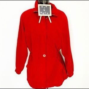 LONDON Fog Water Repellant Jacket Red Size Small P